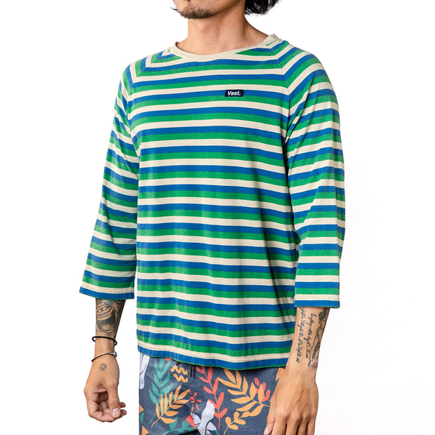 Stripe Quarter Sleeve Tee