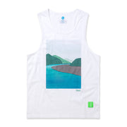 Vast River Tank Top - White
