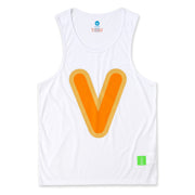 "Vast Bubble ""V"" Tank Top - White"