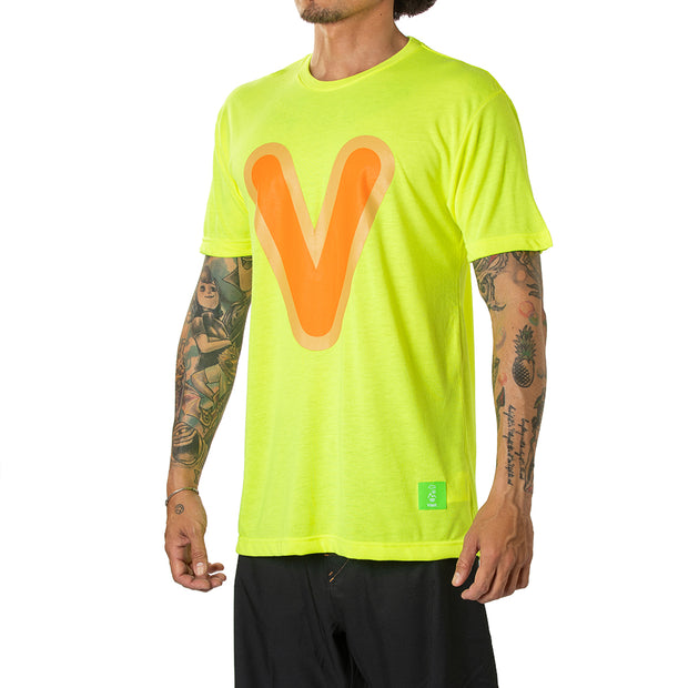 "Vast Bubble ""V"" Tee - Yellow"