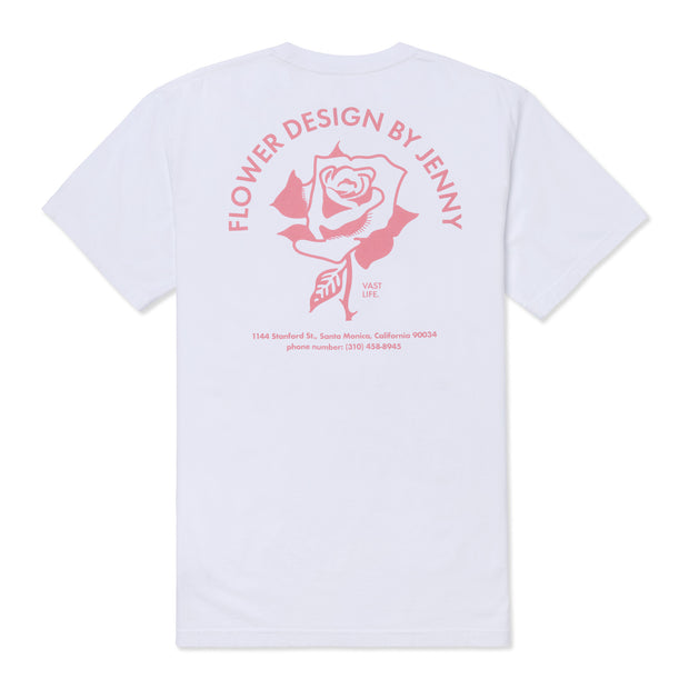 FLOWER SHOP TEE- WHITE