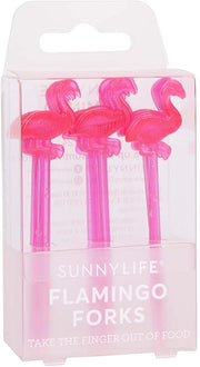 SUNNYLIFE FLAMINGO COCKTAIL FORKS
