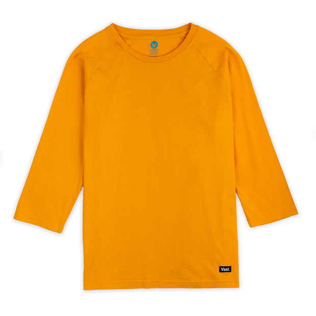 Vast Quarter Sleeve Tee - Ocher