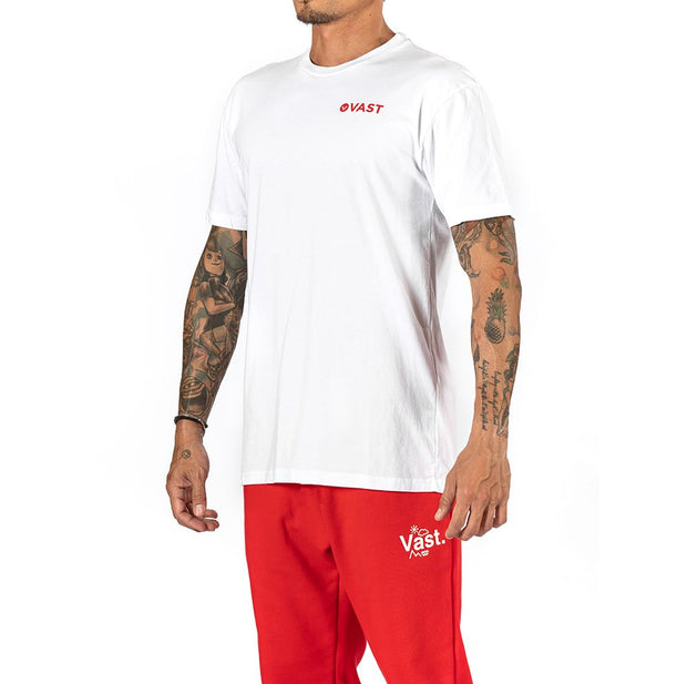 Vast Red Wave Tee - WHITE