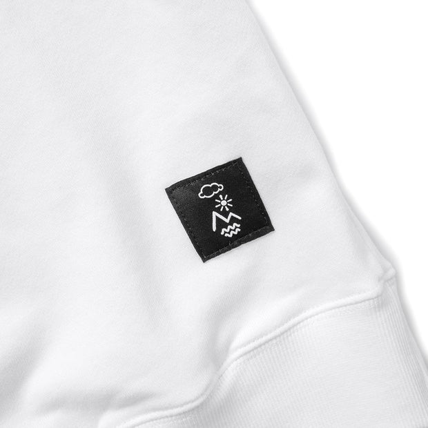 Vast Elements Collegiate Crew - White