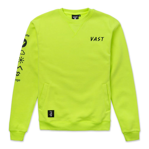 Vast Rosa Crewneck - Safety Yellow