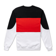 Vast Color Block Crewneck -Red Multi