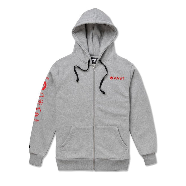 Vast Climate Change Zip Up - Heather