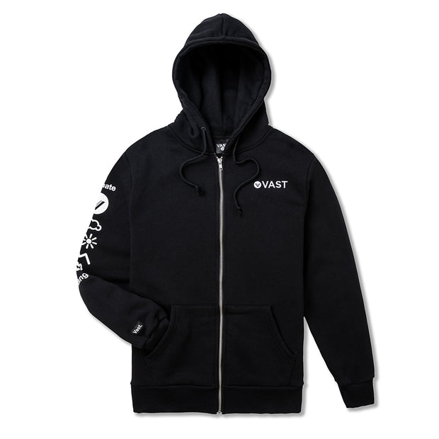 Vast Climate Change Zip Up - Black