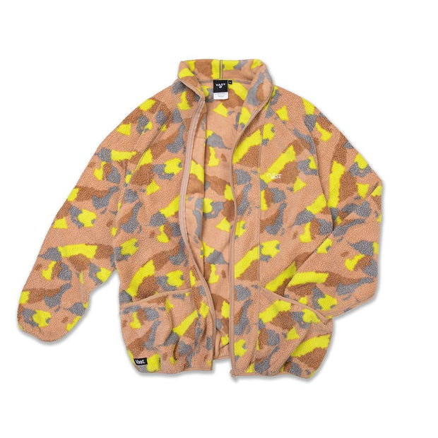 Vast Puffy Sherpa Jacket - NEON CAMO