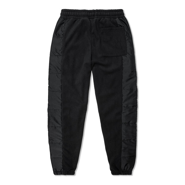 Vast Rip Fleece Sweat Pants - BLACK