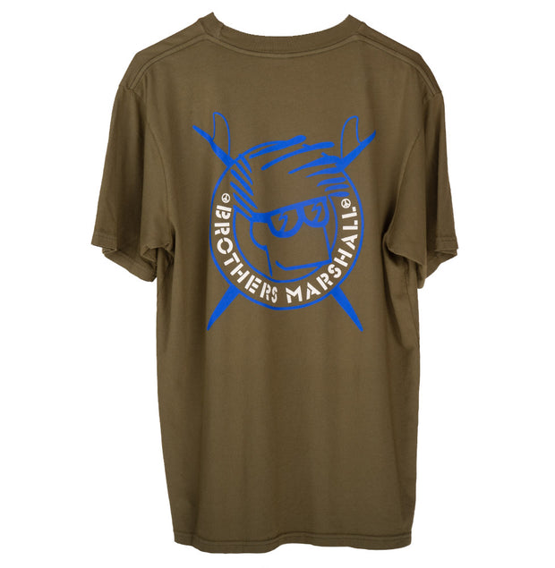 Brothers Marshall Board Head Tee - OLIVE