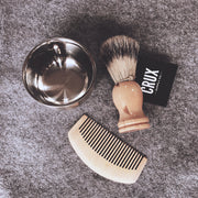 CRUX WOODEN SHAVING BRUSH SET