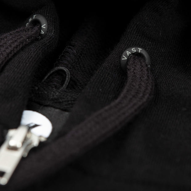 Vast Pillow Zip Up Hoodie - Black