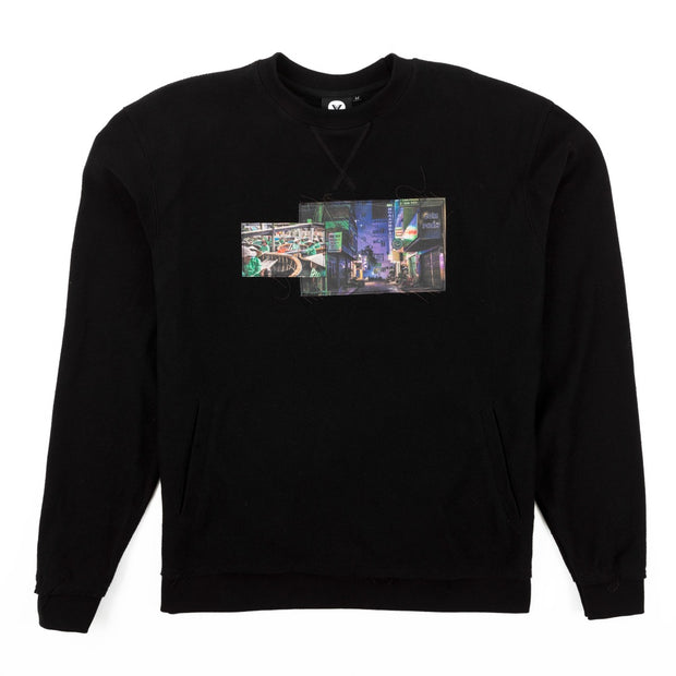 Vast Reversed DTG Crewneck - Black