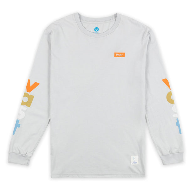 VAST Lower Case Long Sleeve - Grey