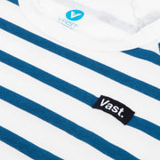 Vast Three Quarter Stripe Tee - Blue