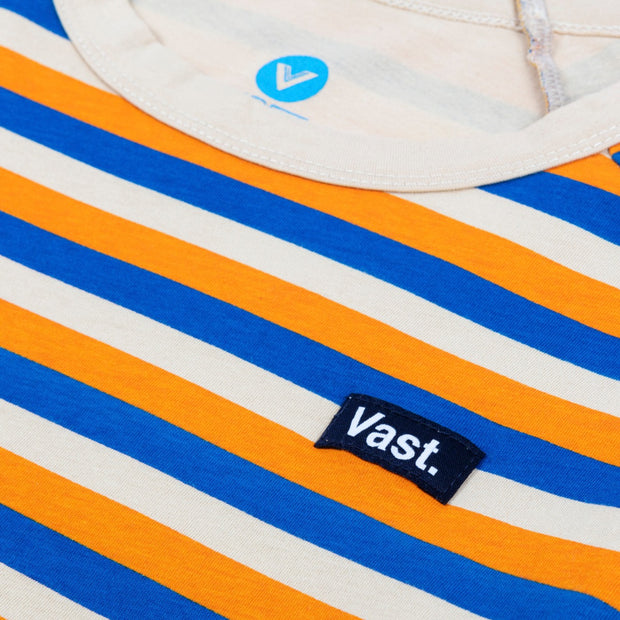 Vast Three Quarter Stripe Tee - Orange