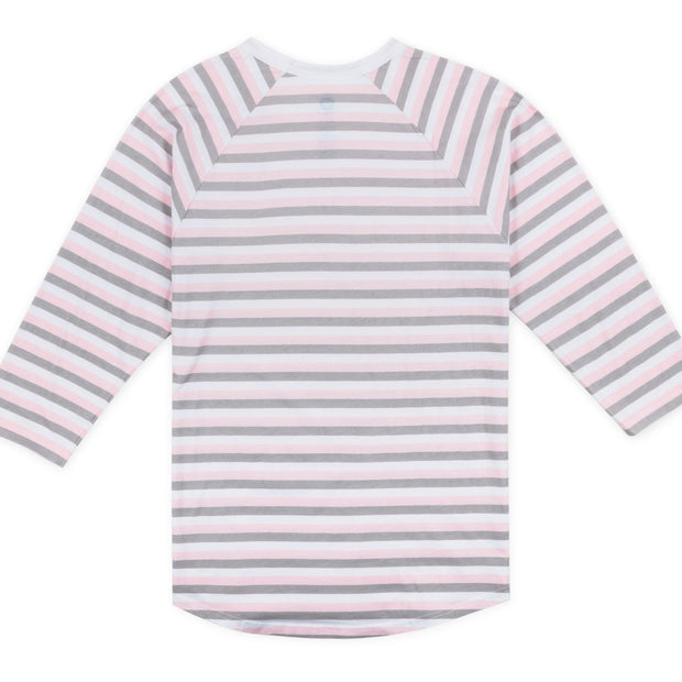 Vast Three Quarter Stripe Tee - Pink