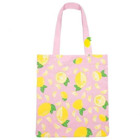 SUNNYLIFE LEMON CANVAS TOTE BAG