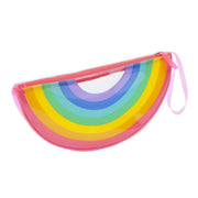 SunnyLife Rainbow See Thru Clutch