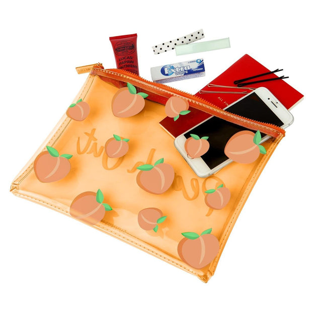 SUNNYLIFE PEACH SEE THRU POUCH