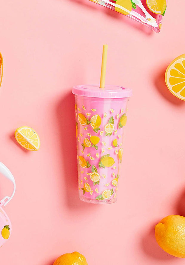 SUNNYLIFE LEMON TUMBLER