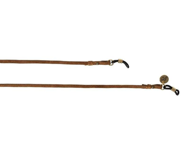 SUNNYCORDS UNISEX Minimalistic Glasses Strap - Brown Gold