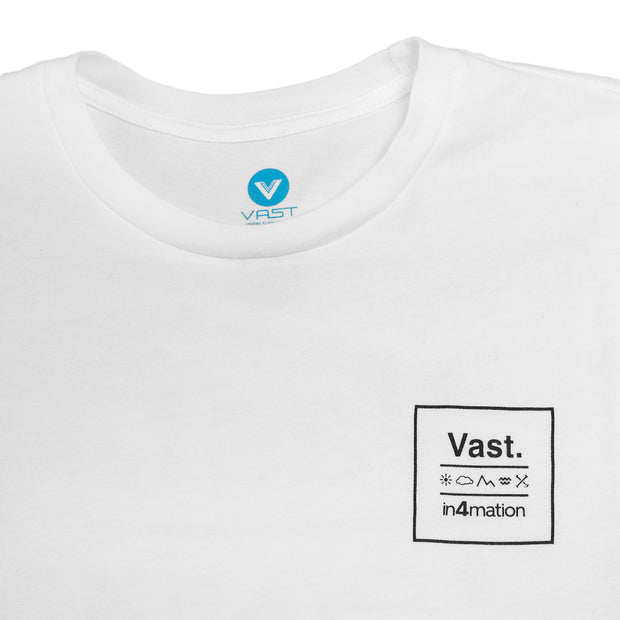 Vast x In4mation Elements Tee - White