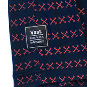 Vast x In4mation Striped Cross Bones Tee - Red