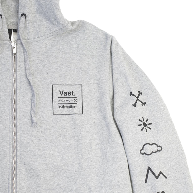 Vast x In4mation Cross Block TeeElements Zip Up Hoodie - Grey