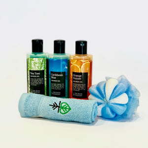 Choose Any 3 Shower Gels, Any 1 Napkin and Any 1 Loofah