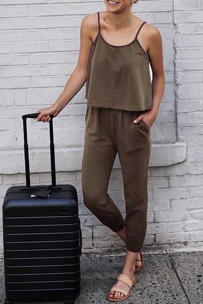 Launiq Casual Solid One-piece Jumpsuit