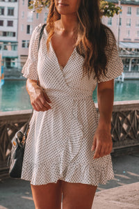 Launiq Stylish Polka Dot Mini Dress