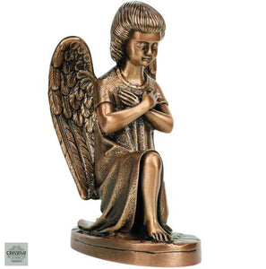 Bronze angel for grave