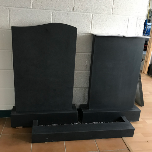 Showroom 12 Honed Granite Headstones