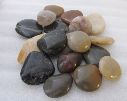 Mixed Polished Pebbles for Grave