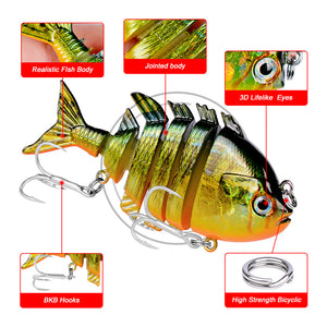 LiveGILL Six Section Jointed Swimming Lure