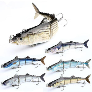 Four Segment Multi-Jointed Fishing Lure