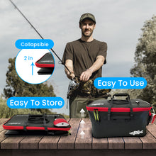Load image into Gallery viewer, Foldable Fishing Bucket with Oxygen Aerator Pump