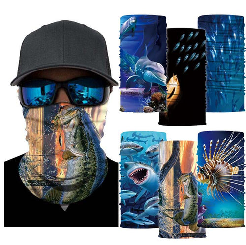 Multi-functional Face Shield | Neck Gaiter | Fishing Outdoors (Fish Collection)