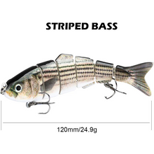 Load image into Gallery viewer, Six Segment Multi-Jointed Minnow Fishing Lure