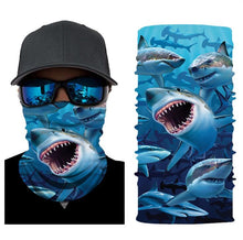 Load image into Gallery viewer, Fishing Mask Sharks