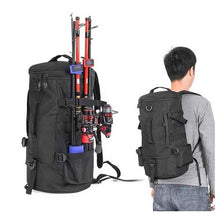 Load image into Gallery viewer, Water-Resistant Fishing Tackle Backpack