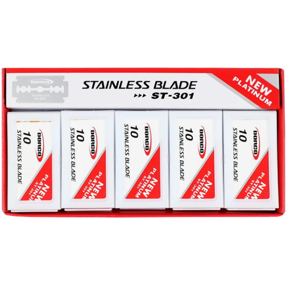 Dorco Platinum Double Edge Razor Blades 100 ct.