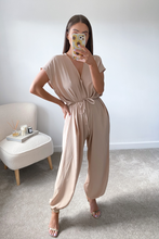 Load image into Gallery viewer, Bonnie Stone Tie Waist Jump Suit