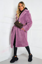 Load image into Gallery viewer, LILY Lilac Teddy Coat