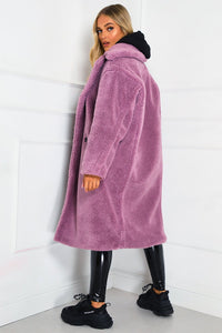 LILY Lilac Teddy Coat