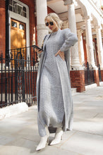 Load image into Gallery viewer, CARLA Grey Maxi Cardigan And Dress Knitted Set