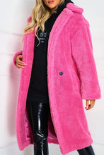 Load image into Gallery viewer, LILY Hot Pink Teddy Coat